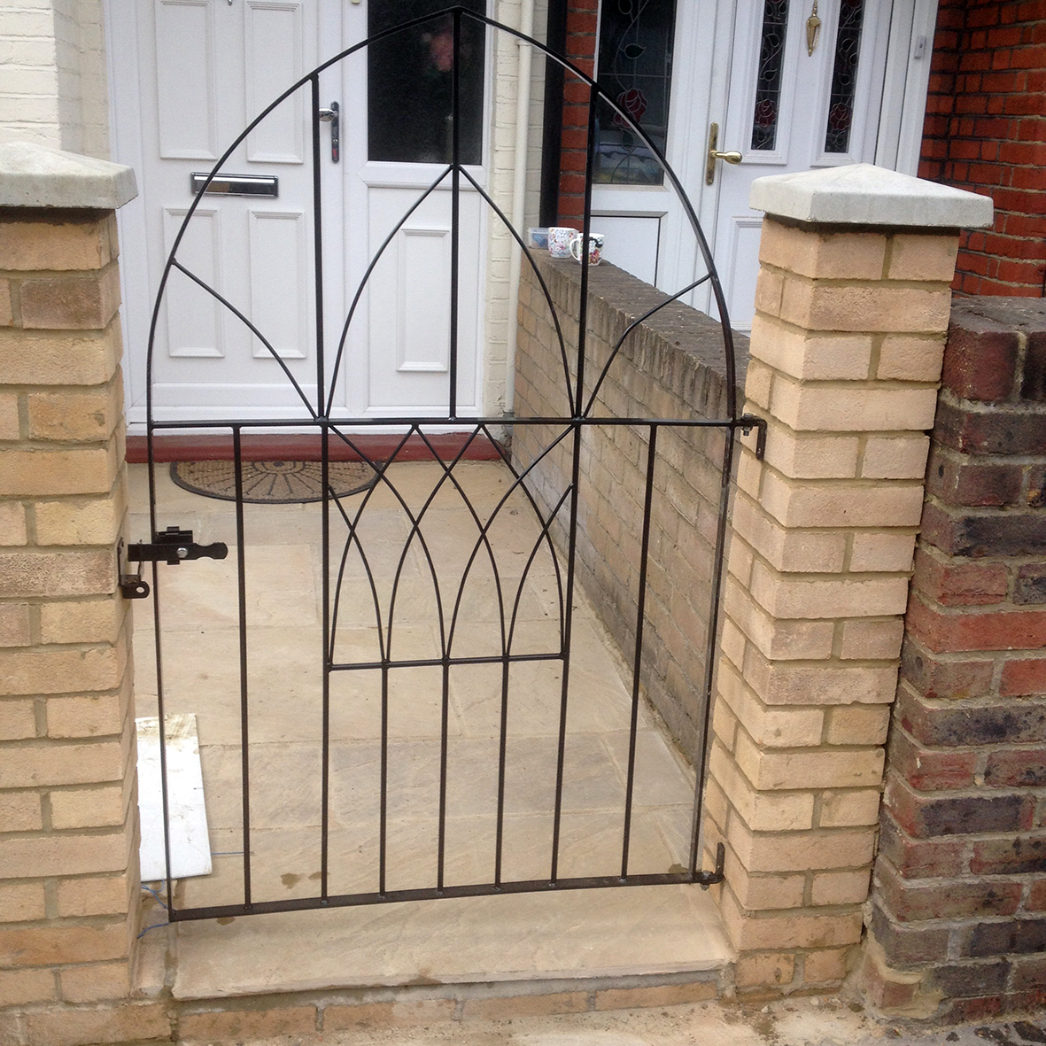 Replacement garden wall and gate
